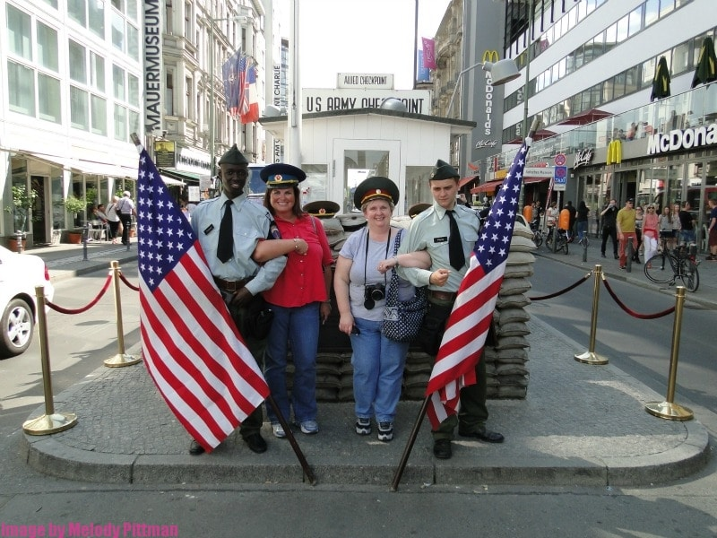 Checkpoint charlie offers some hilarious photo ops.