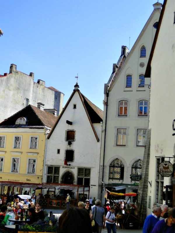 The streets of Old Town Tallinn are lined with classic old buildings.