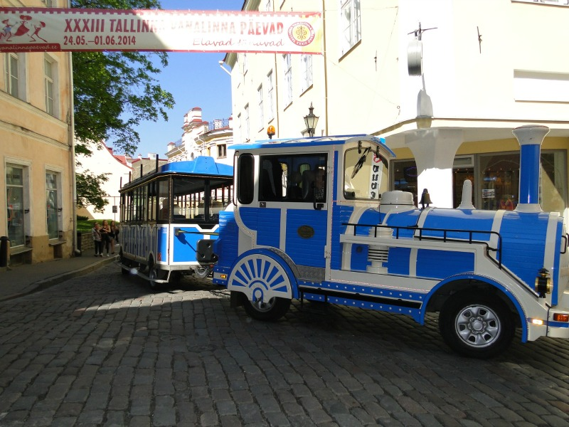 The trolley can get you through the streets of Old Town Tallinn.