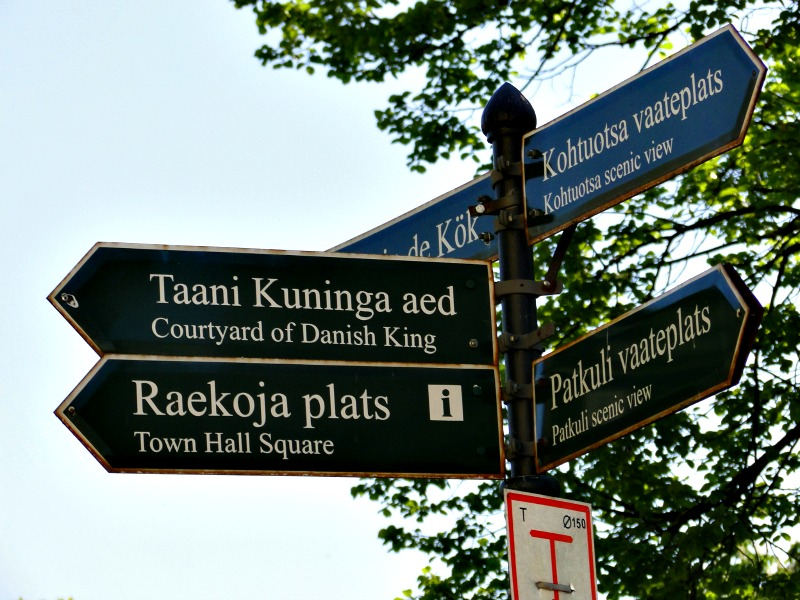 Street signs in Old Town, Tallinn.