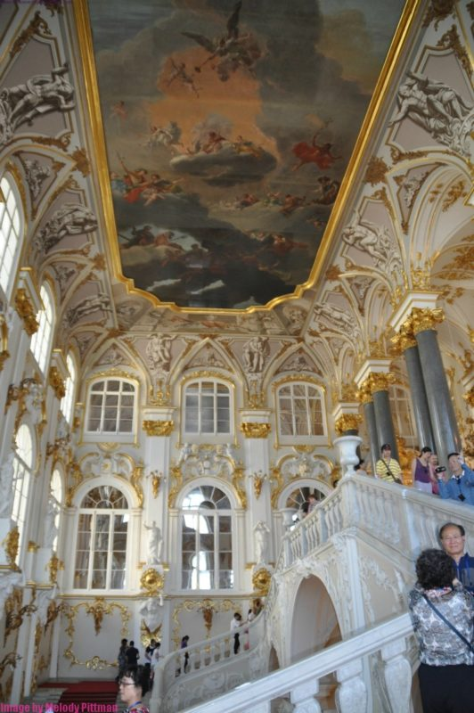 Painted frescoes at The Hermitage.