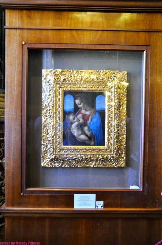 Madonna and child, the most expensive piece of work at The Hermitage.