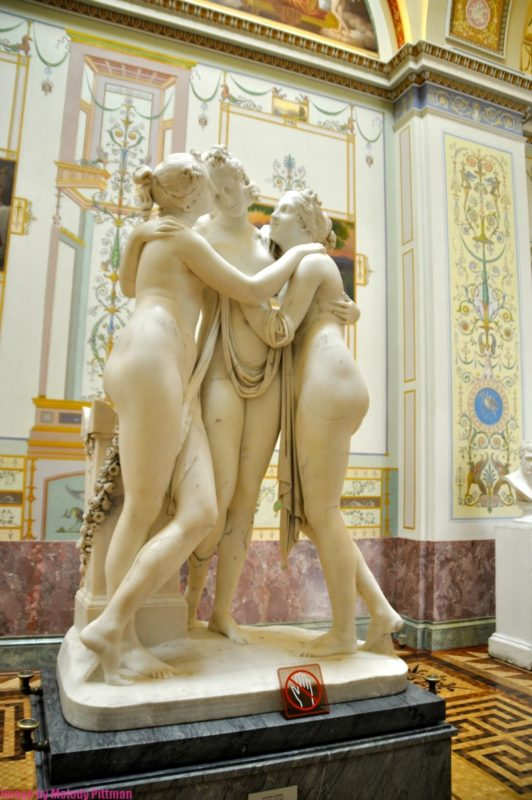 Three Graces by Canova at The Hermitage.