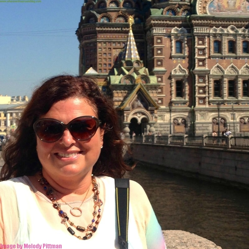 Melody Pittman at the Church on Spilled Blood in Russia.