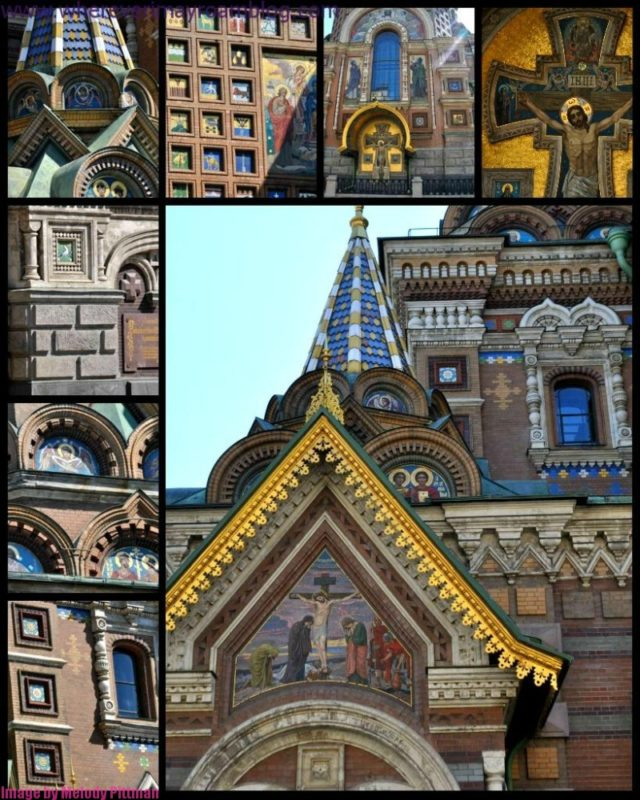 The Church on Spilled Blood photo collage.