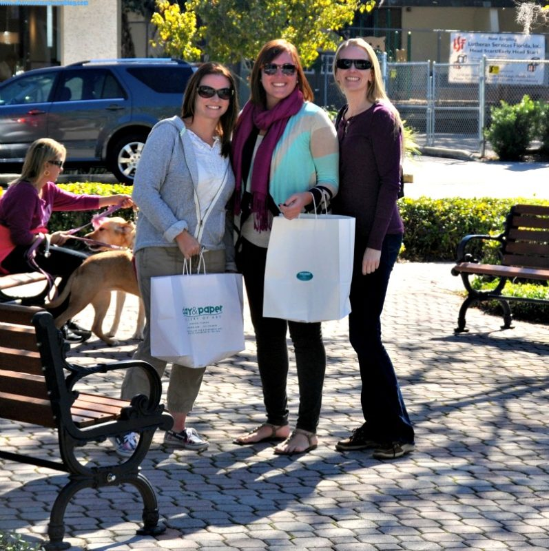 Ladies shopping in downtown Dunedin.