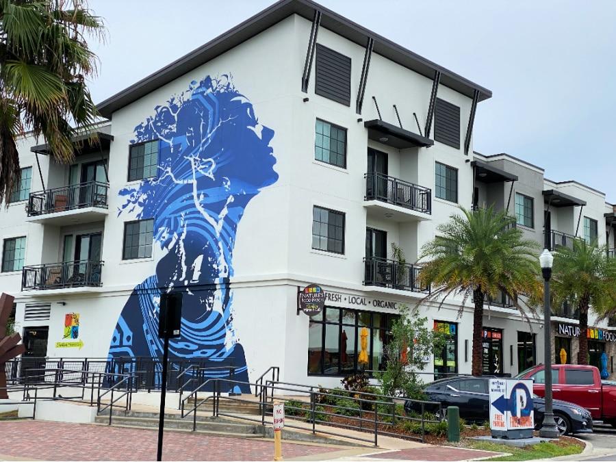 blue mural Dunedin florida