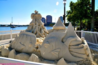 The Sandi Land holiday sand sculptures event is fun for all.