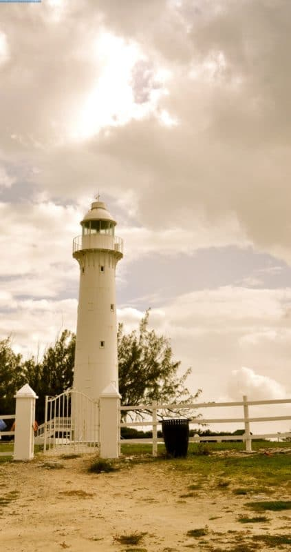The lighthouse on Grand Turk Island.