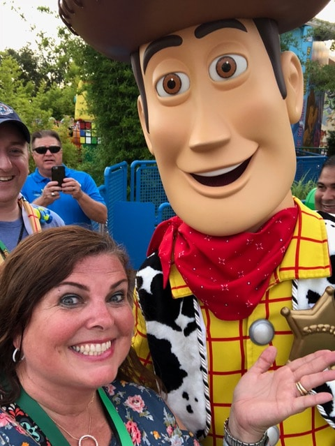 selfie with woody from toy story