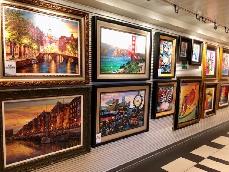 art auction on cruise ship booking