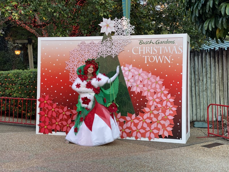 christmas character at Busch Gardens Tampa