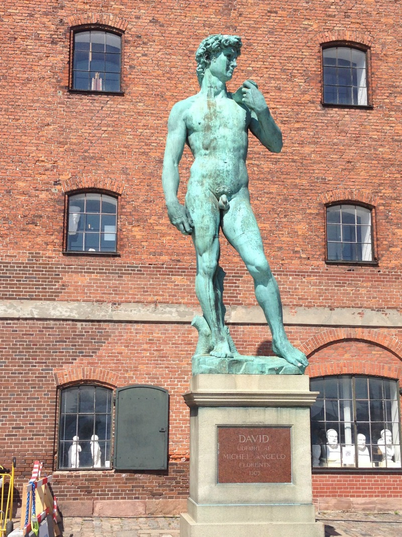 One of Michelangelo's David statues in Copenhagen.
