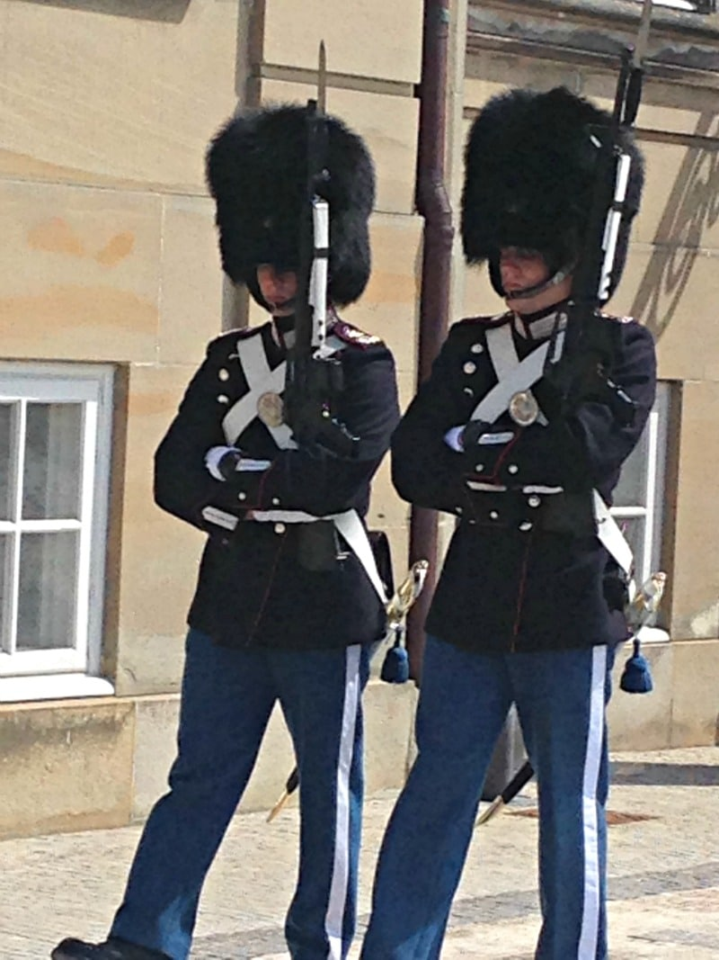 Guards at Amalienborg Palace.