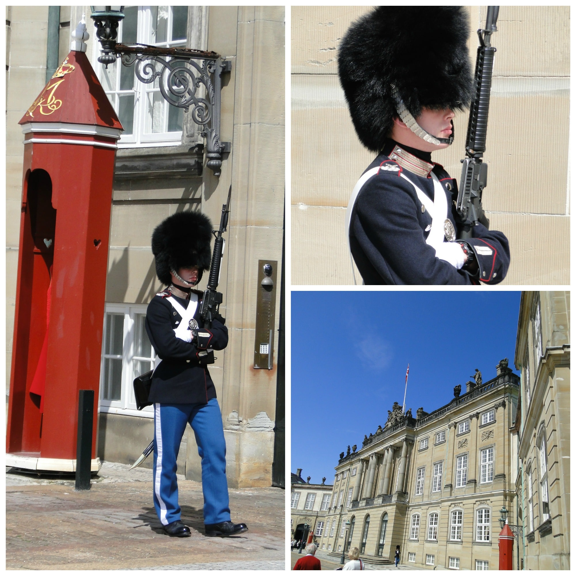 Changing of the guards at Amalienborg Palace.