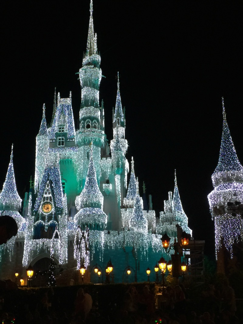 Cinderellas castle Walt Disney World christmas