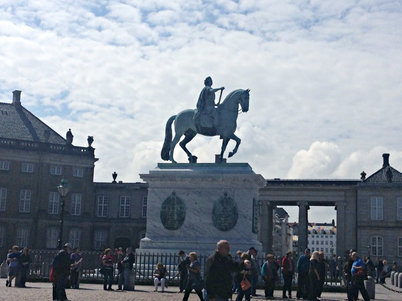 Frederik V statue in downtown Copenhagen.