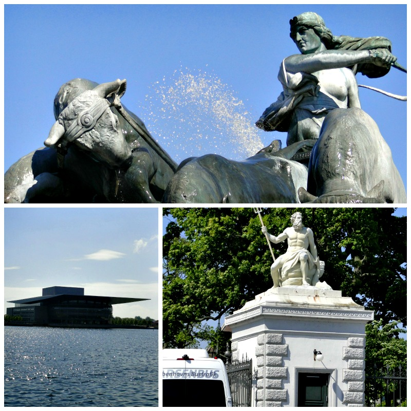 Gefion Fountain in Copenhagen, Denmark.