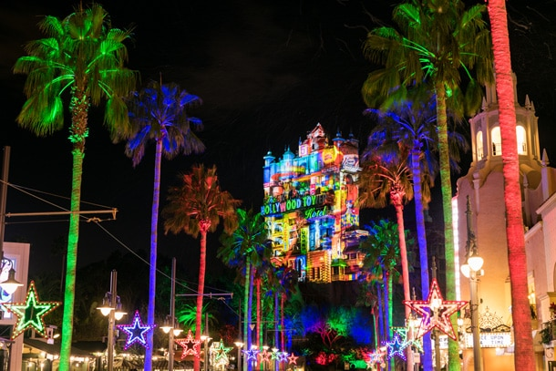 Hollywood Studios holiday light show