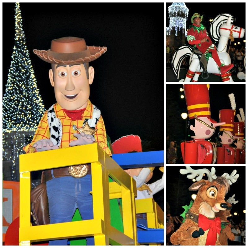 characters in parade magic kingdom Walt Disney World christmas