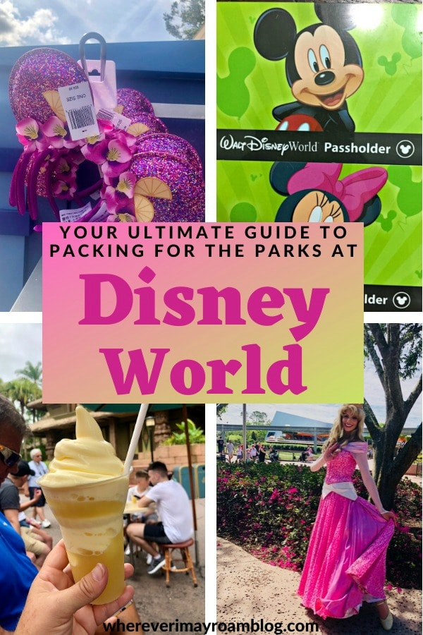 guide to packing for the Disney World parks pin