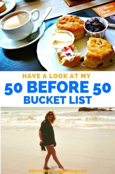 50 before 50 bucket list