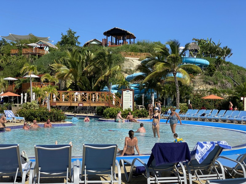 swimming pool at amber cove Dominican Republic