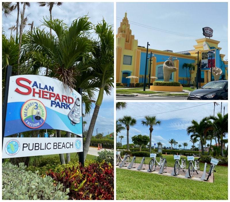 cocoa beach park and Ron Jon's surf shop