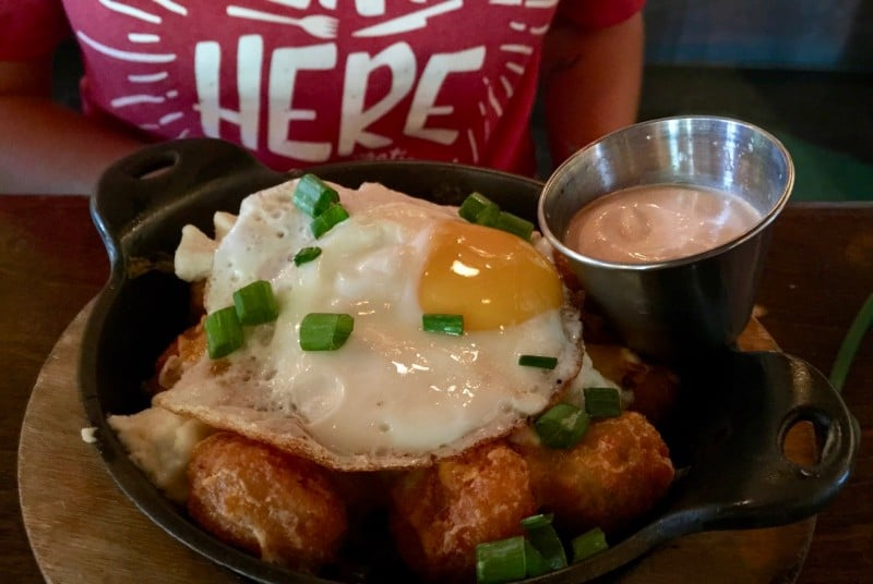flying saucer tater tots meal