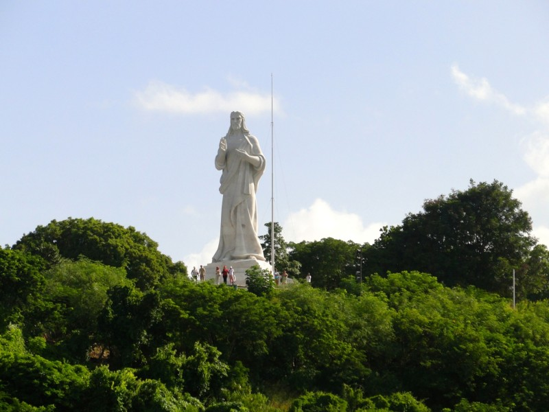 Enormous statue of Christ in Cuba.