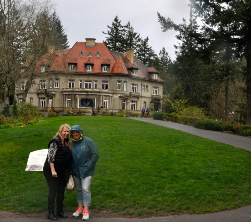 The beautiful Pittock Mansion in Portland.