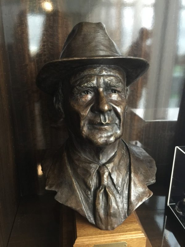 Tom Landry bust at The Ford Center at The Star.