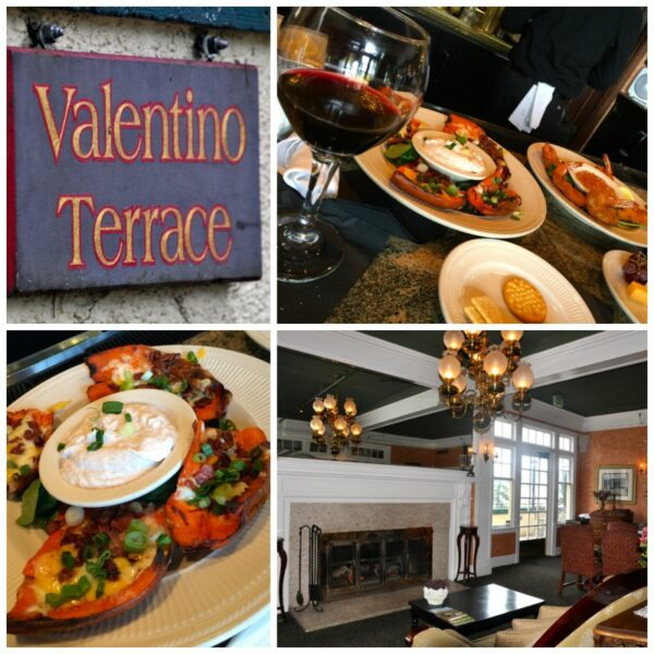 Valentino Lounge food and Columbia Gorge Hotel