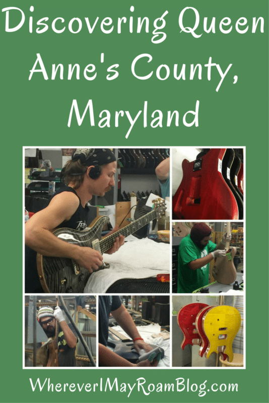 Tour the amazing Paul Reed Smith Guitar Factory which produces handmade top-quality guitars.