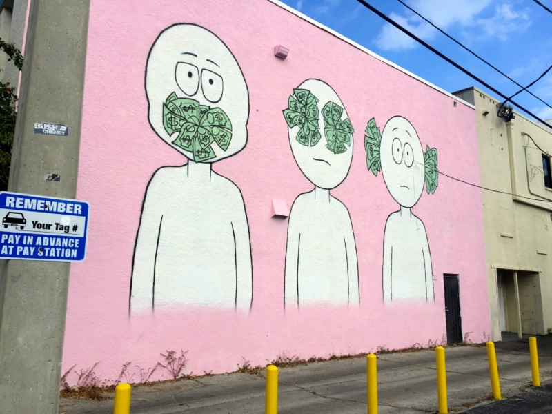 Street art in West Palm Beach, Florida.