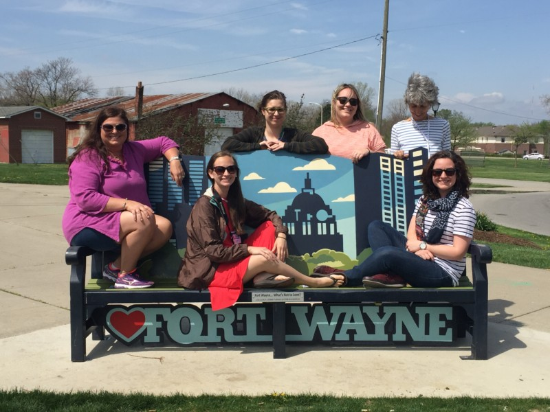 10 Travel Writers were visiting Fort Wayne, Indiana for a familiarization press trip.
