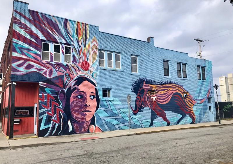 Fort Wayne indian mural