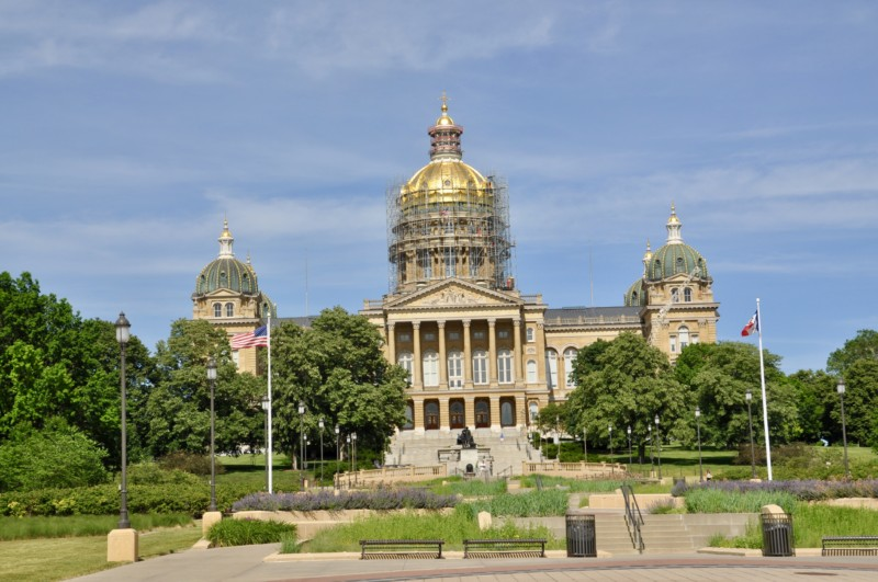 One of the things you must see and do in Iowa is visit downtown Des Moines and the Iowa state capital.