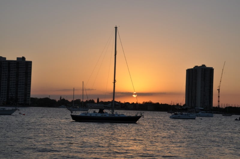 Gorgeous sunset views aboard the Hakuna Matata, near Palm Beach Gardens.