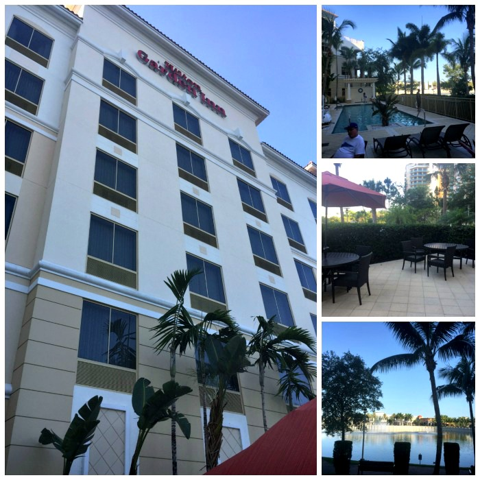 The Hilton Garden Inn at Palm Beach Gardens has a lovely waterfront pool.