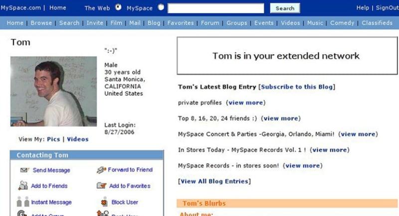 Tom was everyone's first Myspace friend.