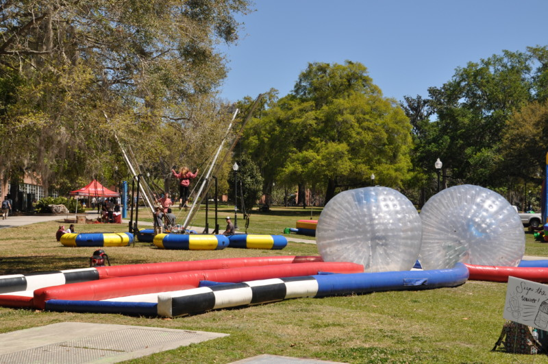 University of Florida campus and students