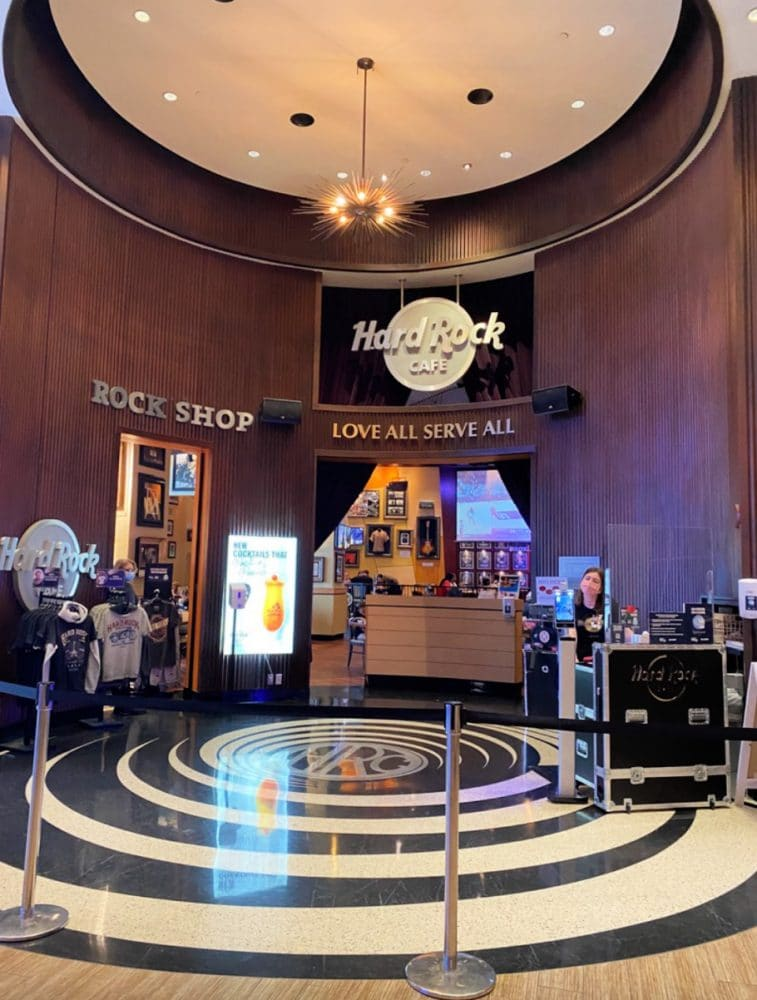 gift shop in lobby at hard rock Hotel Biloxi
