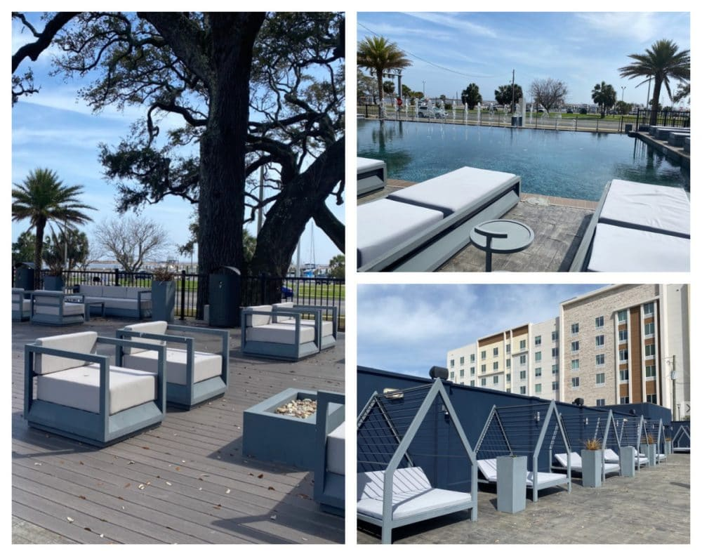 legends hotel pool and deck with seating groups
