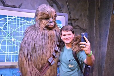 Chewbacca at Walt Disney World's Hollywood Studios.