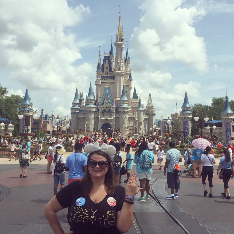One of the most popular things to do at Walt Disney World is take a picture in front of Cinderella's Castle.