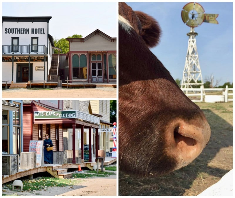 old cowtown farm and historic buildings