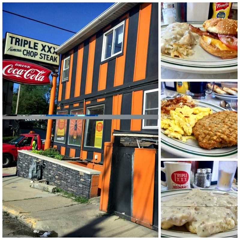 What I loved about visiting West Lafayette was the fabulous breakfast and craft soda from Triple XXX.