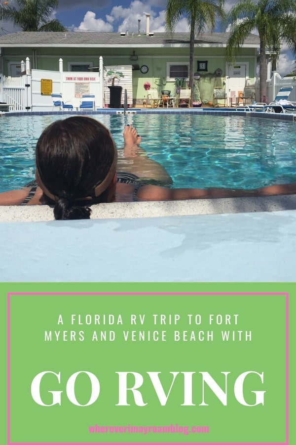 Florida rv trip with go rving pin