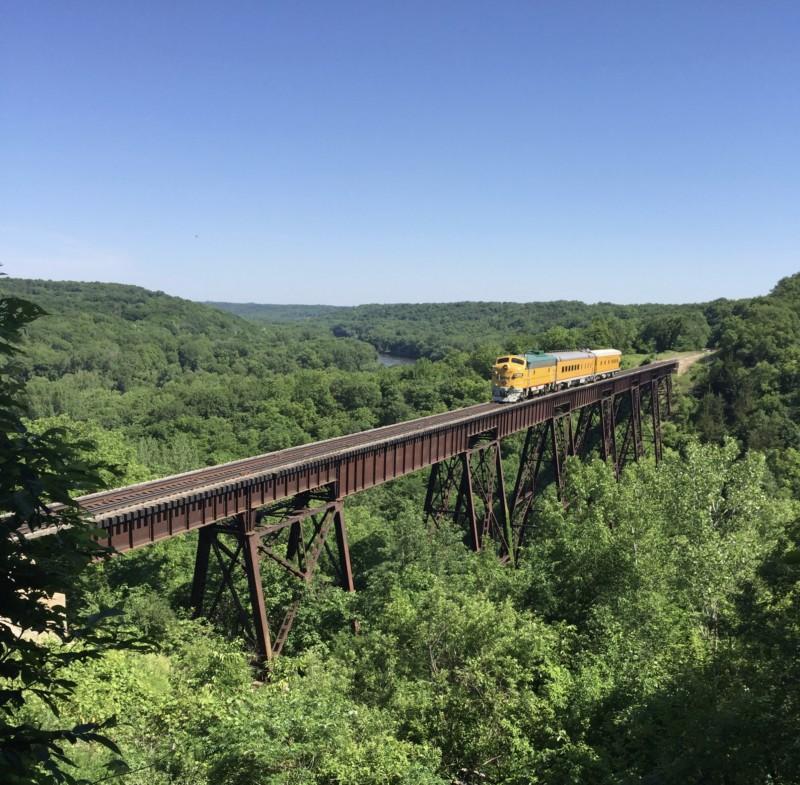 Boone scenic railroad train Iowa
